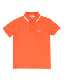 Boss Boys Orange Boys Tipped Polo Shirt
