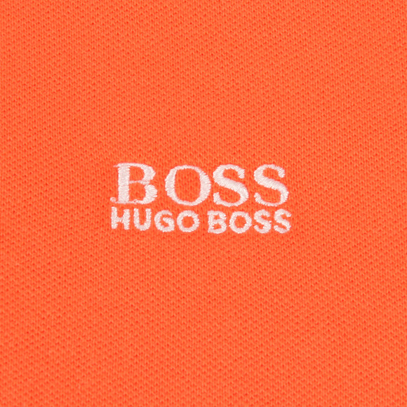 BOSS Bodywear Boys Orange Tipped Polo Shirt main image