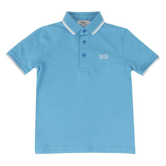 BOSS Bodywear Boys Blue Tipped Polo Shirt main image