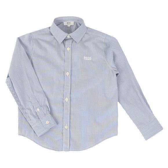 Boss Boys Blue Boys Stripe Shirt main image