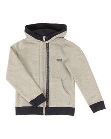 Boss Boys Grey Boys Full Zip Logo Hooded Sweat