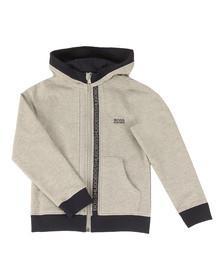 BOSS Bodywear Boys Grey Boys Full Zip Logo Hooded Sweat