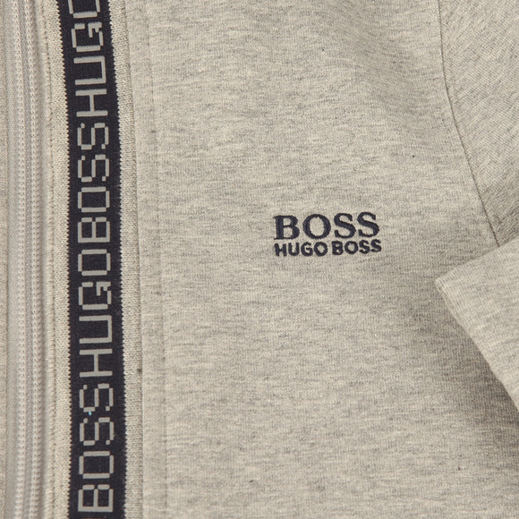 Boss Boys Grey Boys Full Zip Logo Hooded Sweat main image