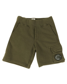 CP Company Undersixteen Boys Green Viewfinder Sweat Short
