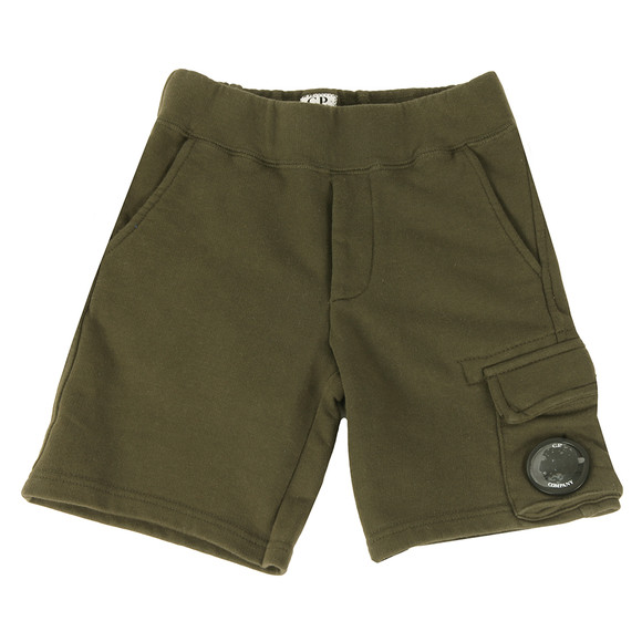 CP Company Undersixteen Boys Green Viewfinder Sweat Short main image