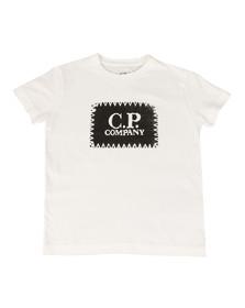 CP Company Undersixteen Boys White Stamp Logo T Shirt