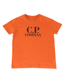 CP Company Undersixteen Boys Orange Printed Goggle T Shirt