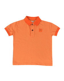 CP Company Undersixteen Boys Orange Contrast Collar Polo Shirt