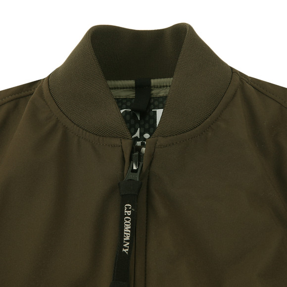 CP Company Undersixteen Boys Green Soft Shell Bomber Jacket main image