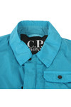 C.P. Company Undersixteen Boys Blue Nylon Chrome Overshirt