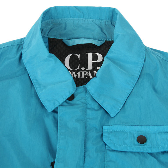 CP Company Undersixteen Boys Blue Nylon Chrome Overshirt main image