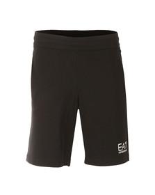 EA7 Emporio Armani Mens Black Small Logo Sweat Shorts