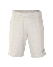EA7 Emporio Armani Mens Grey Small Logo Sweat Shorts