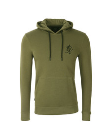Gym king Mens Green Overhead Hoody