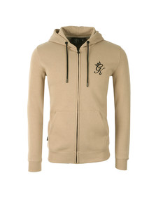 Gym king Mens Beige Core Tracksuit Top