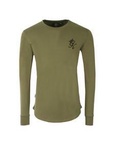 Gym king Mens Green Long Sleeve Undergarment Tee
