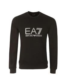 EA7 Emporio Armani Mens Black Large Printed Logo Sweatshirt