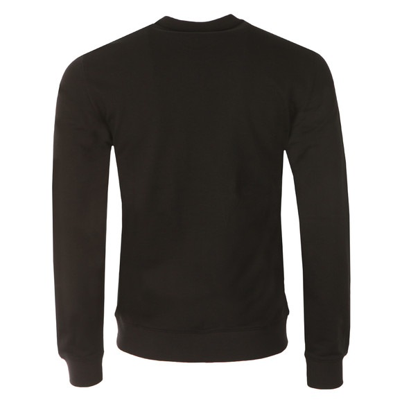 EA7 Emporio Armani Mens Black Large Printed Logo Sweatshirt main image