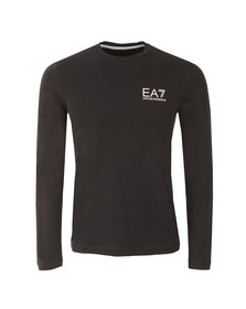 EA7 Emporio Armani Mens Blue Small Logo Long Sleeve T Shirt