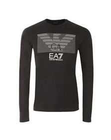 EA7 Emporio Armani Mens Black Chest Pattern Eagle T Shirt