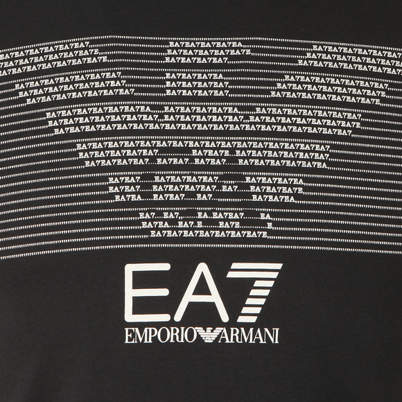 EA7 Emporio Armani Mens Black Chest Pattern Eagle T Shirt main image