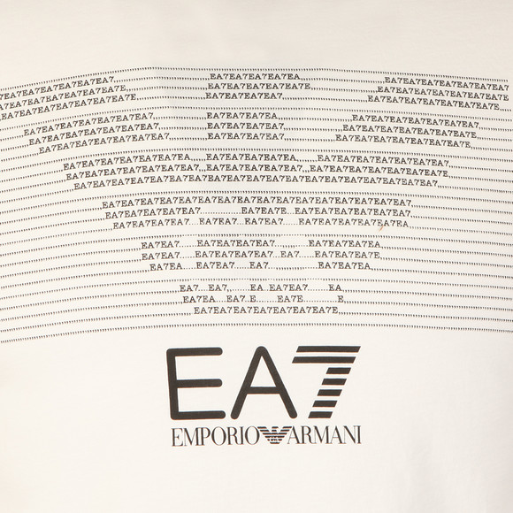 EA7 Emporio Armani Mens White Chest Pattern Eagle T Shirt main image