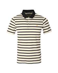 Farah Mens Off-white S/S Hackney Honeycomb Polo