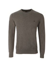 Pretty Green Mens Grey Mandeville Crew Neck Jumper
