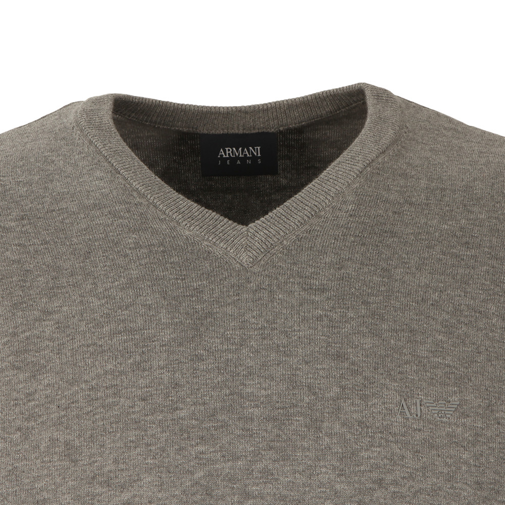 V Neck Small Logo Jumper main image