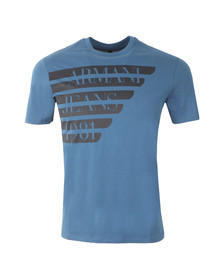 Armani Jeans Mens Blue Side Logo T Shirt