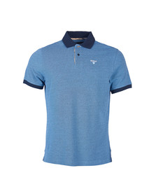 Barbour Lifestyle Mens Blue Tartan Pique Polo