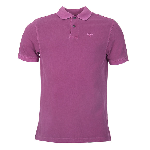 Barbour Lifestyle Mens Purple Washed Sports Polo main image