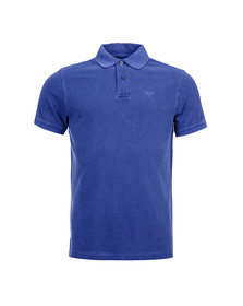 Barbour Lifestyle Mens Blue Washed Sports Polo