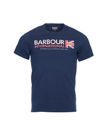 Barbour International Mens Blue S/S Flag Tee