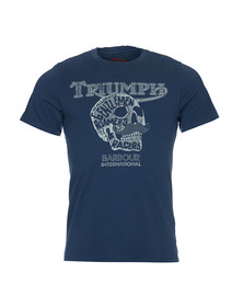 Barbour International Triumph Mens Blue S/S Roamers Tee