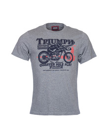 Barbour International Triumph Mens Grey S/S Quarter Mile Tee