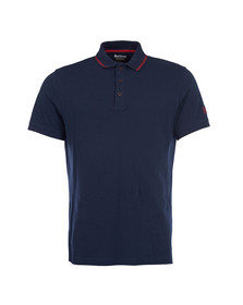 Barbour International Mens Blue S/S Plain Polo