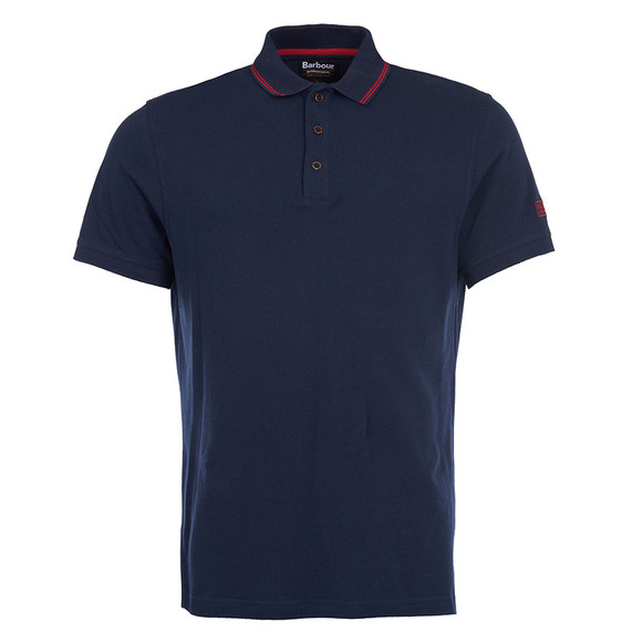 Barbour International Mens Blue S/S Plain Polo main image