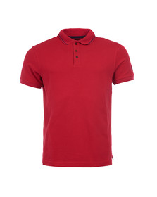 Barbour International Mens Red S/S Plain Polo