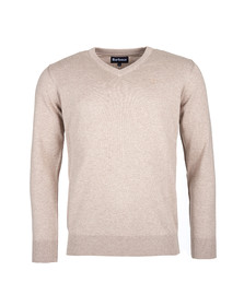 Barbour Lifestyle Mens Beige Pima Cotton V Neck Jumper