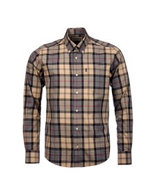 Barbour Lifestyle Mens Grey Tartan 1 Tailored Shirt