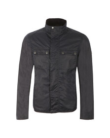 Barbour International Mens Blue Lock Wax Jacket