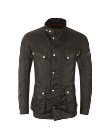 Barbour International Mens Black Enfield Wax Jacket