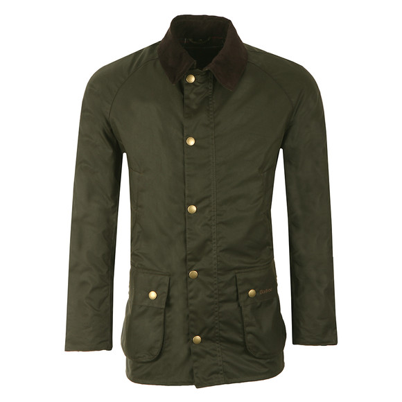 Barbour Lifestyle Mens Green Ashby Wax Jacket