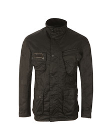 Barbour International Mens Black Slim Wax Jacket
