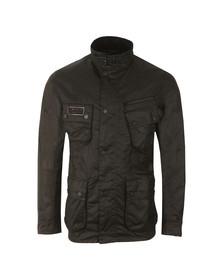 Barbour International Mens Black Slim Wax Jacket