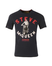 Barbour Steve McQueen Mens Blue S/S Leap Tee