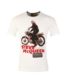 Barbour Steve McQueen Mens White S/S Park Tee