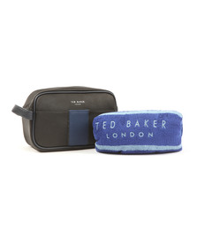 Ted Baker Mens Black Nostry Webbing Wash Bag and Towel