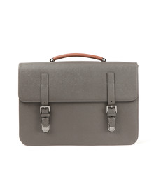 Ted Baker Mens Grey Lansky Cross Grain Satchel